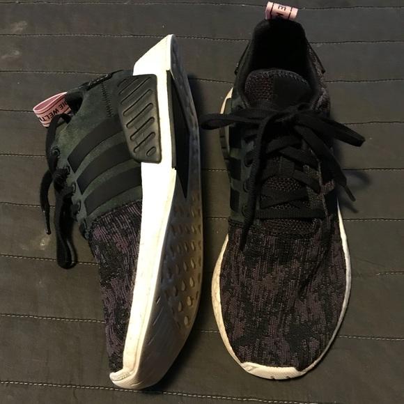 le adidas nmd r2 black chiedo rosa donne 8 autentico poshmark